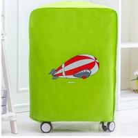 pelindung koper, luggage cover, sarung bagasi hijau pesawat
