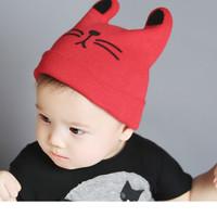 topi kupluk tanduk baby, topi telinga kucing, topi kupluk unisex