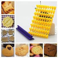 cetakan alphabet biskuit,cetakan huruf angka biskuit,cookies mould