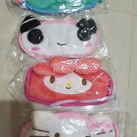 masker penutup mata hello kitty, masker mata kain dengan gel pendingin