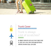 pelindung koper, luggage cover, sarung bagasi biru bus