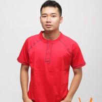 velocitee tshirt polos warna merah