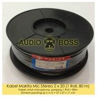 Kabel Audio Mic Stereo Makita ORIGINAL hitam 2x20 80M 80 meter 1 ROLL