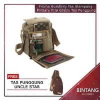 Promo Bundling Tas Slempang Import Uncle Star Kanvas Mi Limited