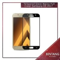 Murah Meriah Tempered Glass Warna Full Cover Samsung A5 Diskon