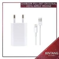Murah Meriah CHARGER FULLSET ORIGINAL APPLE IPHONE 5 5s Limited