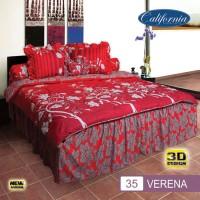 Bedcover Set (King 180x200) Motif Verena California RUM 035