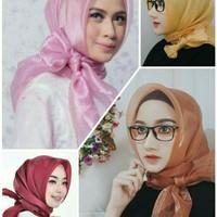 jilbab segiempat organza/hijab segiempat polos organza ORGANZA SQUARE