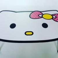 meja lipat hello Kitty putih