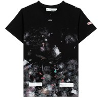 Off White Galaxy Brushed Tee 100% Authentic - Hitam, L
