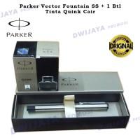 Paket 1 Klik : 1 Pcs Parker Vector SS Fountain+1 Btl Tinta Quink Cair