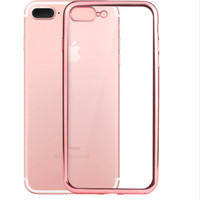 Bumper Transparan TPU Silicon Soft Case Casing iPhone 6 6s 7 8 X Plus