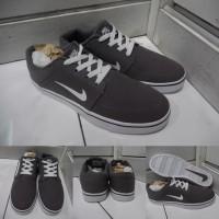 Sepatu Kets Sneakers Nike SB Portmore Canvas Premium Grey Abu