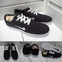 Sepatu Kets Sneakers Nike SB Portmore Canvas Premium Black White
