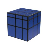 Rubik Mirror 3x3 - Qiyi Mirror Black Blue (navy)