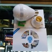 IP Camera, kamera CCTV Panoramic, lampu Bholam wireless eye 360