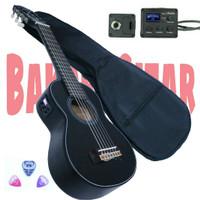 Gitar akustik elektrik lele mini tunner,kado,koleksi,6 senar nilon