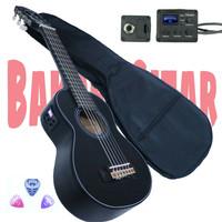 Gitarlele elektrik tunner fishman & softcase kabel
