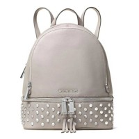 Michael Kors Tas Wanita Rhea Medium Studded Leather Backpack - Pearl G