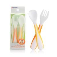 Richell UF Baby Spoon Fork w/ Case Set Sendok Makan Bayi dengan Kotak
