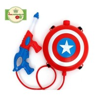 Mainan Pistol Air BackPack / Water Gun PERISAI CAPTAIN AMERICA
