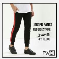 Celana Jogger (Red Side Stripe) / Celana Training/ Track Pants