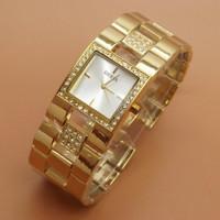 Jam Tangan Guess 20540 Fashion Wanita Rantai Gold