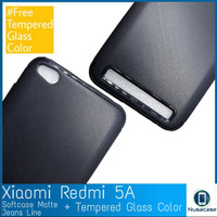 Xiaomi Redmi 5A Softcase Line Case + Tempered Glass