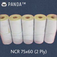 KERTAS NCR STRUK KASIR PANDA 75x60mm PAPER ROLL (2 Ply) Isi 10 Roll