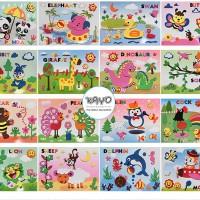 buku menempel anak-anak buku gambar keterampilan anak-anak, alat tulis