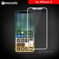 iPhone X - Soft Bumper 3D Full Cover MOCOLO Tempered Glass Screenguard
