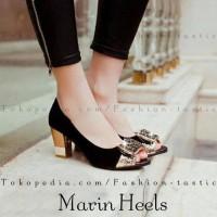 Super Murah Highheels Murah Marin Heels Kokop Hitam Sepatu Sandal