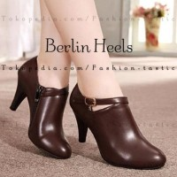 Super Murah Sepatu Boot Highheels Murah Berlin Heels Coklat Boot