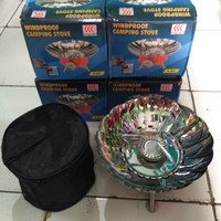 kompor gas portable mini kovar ( windproof camping stove / gas cooker
