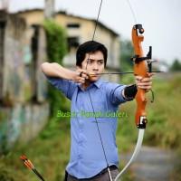 60 Wooden Recurve Bow Rucika Fiber / Busur Panah / Archery