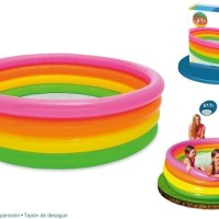 Kolam Renang Intex 4 Ring Rainbow - 56441