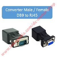 converter male/female db9 to rj45 - Connector rs232 modular