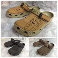 GARANSI TERMURAH Sandal Pria Crocs Yukon Leather Original BEST