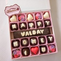 Coklat Ucapan Cocok Untuk Valentine Anniversary Birthday S25D Pink