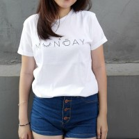 BAJU KAOS MUNDAY FOR CEWEK TUMBLR TEE TSHIRT CEWE T-SHIRT COTTON