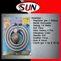 Paket selang gas + kepala regulator gas Kenmaster Kompor LPG  Elpiji