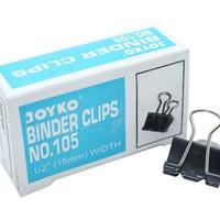 Binder Clip JOYKO 105. Penjepit Kertas 15mm. (12 Pcs)
