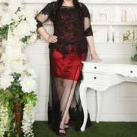 Dress high quality special design ( Gaun Kebaya / Brukat ) Plus Size