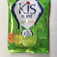 Permen Kis Mint Apple Peach 1 Bungkus / 125 gram / Hijau Apel Dus