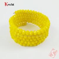 Gelang Tangan Batu Kristal Natural Asli Original Lilit Kuning GKLK-001
