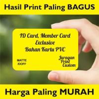Cetak ID Card Eksklusif Kartu Member Nama PVC DOFF/MATTE