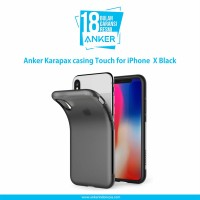 Casing Anker Karapax Touch for IPhone X Black - A9004H11