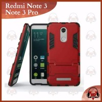 Casing XIAOMI REDMI NOTE 3 PRO Case Armor Stand Robot IronMan Note3