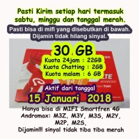 Perdana Smartfren 30GB Fressh 30 GB Aktif 1bulan full 24jam bukan 65