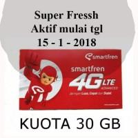 Kartu Perdana Smartfren 30GB Fressh 30 GB bukan 65GB Kirim hari ini